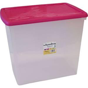 Wham 90L Storage Box & Fuchsia Lid