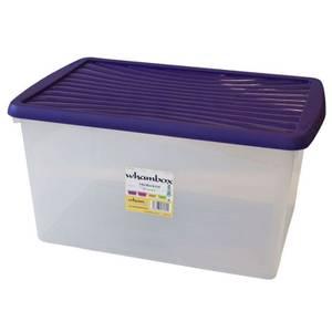 Wham 54L Storage Box with Violet Lid