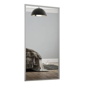 Loft Sliding Wardrobe Door Mirror with Silver Frame (W)762mm