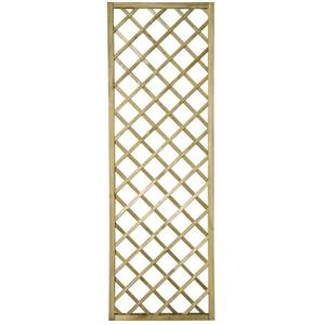 Forest Hidcote Framed Wooden Lattice Trellis - 0.6x1.8m