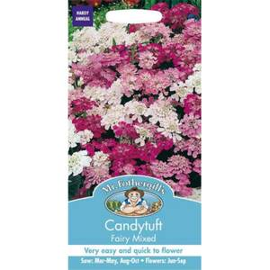 Mr. Fothergill's Candytuft Fairy Mixed (Iberis Umbellata) Seeds