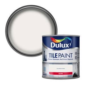 Dulux Bathroom Plus Pure Brilliant White - Tile Paint - 600ml