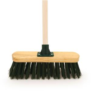 Master Gardener Stiff PVC Broom - 33cm