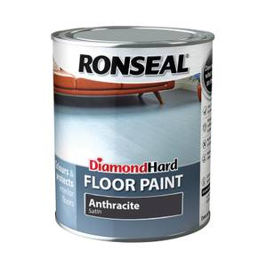 Ronseal Diamond Hard Floor Paint Anthracite - 750ml