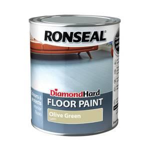 Ronseal Diamond Hard Floor Paint Olive Green - 750ml
