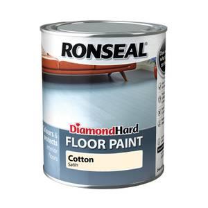 Ronseal Diamond Hard Floor Paint Cotton - 750ml
