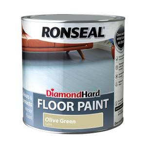 Ronseal Diamond Hard Floor Paint Olive Green - 2.5L