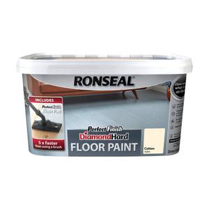 Ronseal Cotton - Perfect Finish Diamond Hard Floor Paint - 2.5L