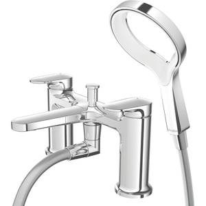 Methven Aio Aurajet Bath Shower Mixer Tap - Chrome & White