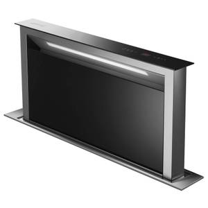 Smeg KDD90VXNE 90cm Island Downdraft Hood - Stainless Steel & Black Glass