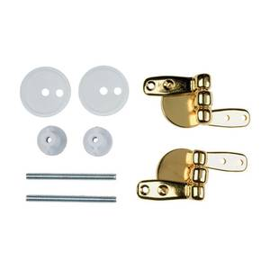 Toilet Seat Hinges - Brass Wooden