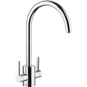 Virgo Dual Handle Monobloc Kitchen Tap - Chrome