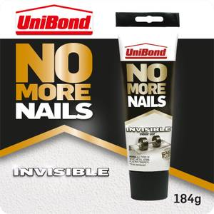 UniBond No More Nails Grab Adhesive Tube Invisible 184g