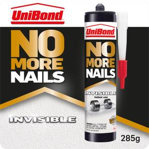UniBond No More Nails Grab Adhesive Cartridge Invisible 285g