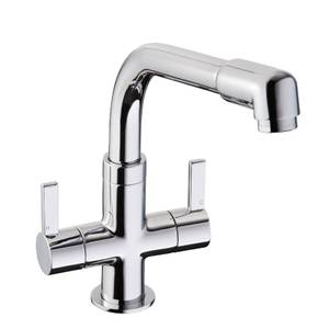 Funktion Dual Handle Monobloc Kitchen Tap - Chrome