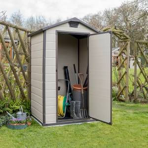 Keter Manor Apex Shed 4x3ft Beige / Brown
