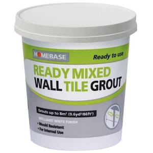 Homebase Ready Mixed Grout White - 1.6kg