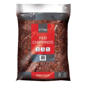 Stylish Stone Red Chippings - Midi Pack - 9kg