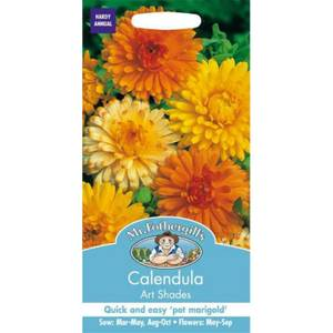 Calendula Pot Marigold Art Shades (Calendula Officinalis) Seeds