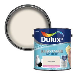 Dulux Easycare Bathroom Almond White Soft Sheen Paint - 2.5L