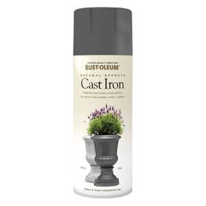 Rust-Oleum Natural Effects Spray Paint - Cast Iron - 400ml