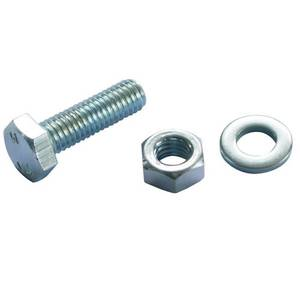 Hex Bolt - Bright Zinc Plated - M6 40mm - 10 Pack