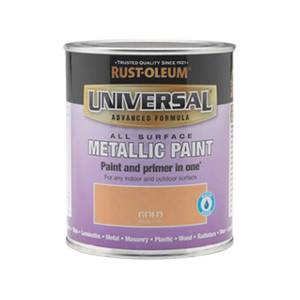 Rust-Oleum Universal All Surface Metallic Paint & Primer - Gold - 750ml