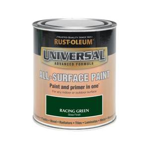 Rust-Oleum Universal All Surface Gloss Paint & Primer - Racing Green - 750ml