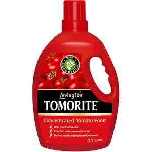 Levington Tomorite Concentrated Tomato Plant Food With Seaweed Extract - 2.5L