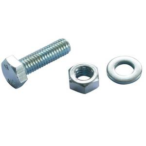 Hex Bolt - Bright Zinc Plated - M10 80mm - 5 Pack