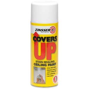 Rust-Oleum Zinsser White - Cover Up Matt Spray Paint - 400ml