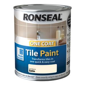 Ronseal One Coat Tile Paint Sandstone Satin - 750ml