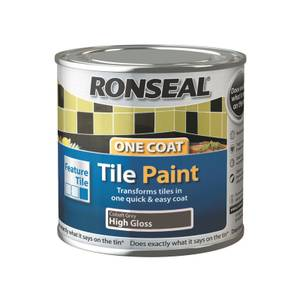 Ronseal One Coat Tile Paint Cobalt Grey High Gloss - 250ml