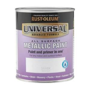 Rust-Oleum Universal All Surface Metallic Paint & Primer - Silver - 250ml