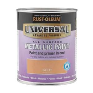 Rust-Oleum Universal All Surface Metallic Paint & Primer - Gold - 250ml