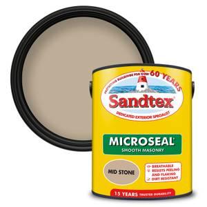 Sandtex Ultra Smooth Masonry Paint - Mid Stone - 5L