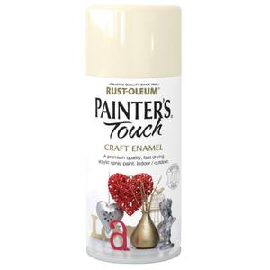 Rust-Oleum Painters Touch - Craft Enamel Spray Paint Heirloom White Gloss - 150ml