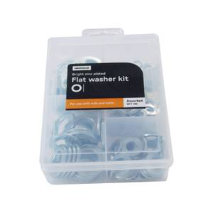 Flat Washer Kit - Assorted - 140 Pack