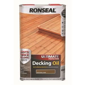 Ronseal Ultimate Protection Decking Oil Natural Oak - 5L