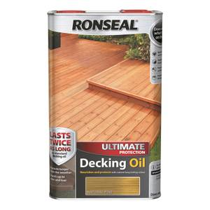 Ronseal Ultimate Protection Decking Oil Natural Pine - 5L
