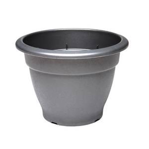 Round Bell Pot in Black - 46cm
