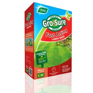 Gro-Sure Fast Acting Lawn Seed - 80m2g