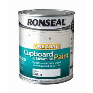 Ronseal Pure Brilliant White - One Coat Cupboard Paint - 750ml