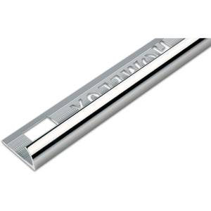 Homelux 6mm Round Edge Tile Trim - Silver Effect - 1.83m