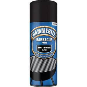 Hammerite Matt Finish BBQ Paint - Black - 400ml