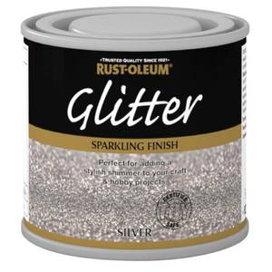 Rust-Oleum Glitter Silver Paint - 125ml