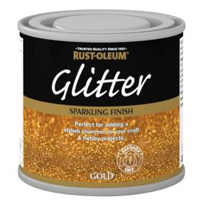 Rust-Oleum Glitter Gold Paint - 125ml