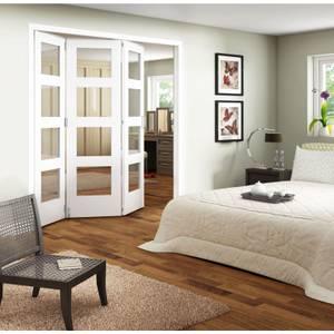 Clear Glazed Primed Internal Room Divider Doorset - 3158mm Wide