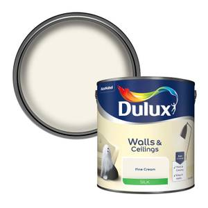 Dulux Silk Fine Cream Silk Emulsion Paint - 2.5L