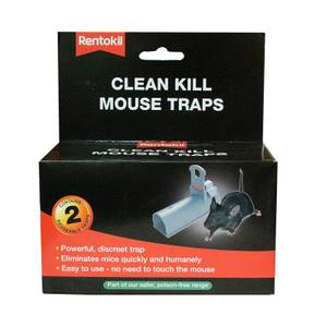 Rentokil Clean Kill Mouse Trap (Pack of 2)